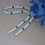 Swarovski Crystal Pear Necklace In Pastel Blue