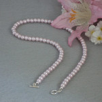 Lilac Glass Pearl Necklace