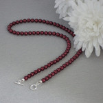 Sleek Czech Beaded Pearl Necklace