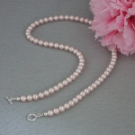 Swarovski Rosaline Crystal Pearl Necklace