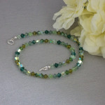 Mixture Of Greens For Swarovski Crystal Necklace