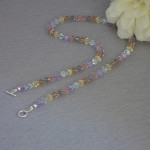 Swarovski Crystal Beaded Necklace In Beautiful Pale Colors