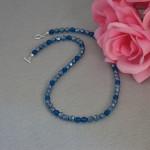 Czech Glass Beaded Necklace In Capri Blue