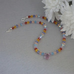 Colorful Swarovski Crystal Necklace With Pendant