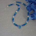 Swarovski Crystal Necklace With Pendant In Radiant Blues