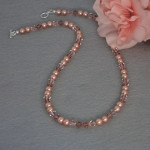 Swarovski Crystal Necklace In Rose Gold