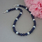 Dark Lapis Jade Gemstone Necklace