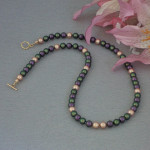 Swarovski Crystal Pearl Necklace In A Fantastic Color Combination