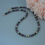 Lustrous Color Combination For Swarovski Crystal Pearl Necklace