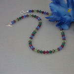 Swarovski Crystal Beaded Necklace In Spectacular Colors