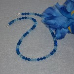 Swarovski Crystal Beaded Necklace In Capri Blue & Aquamarine