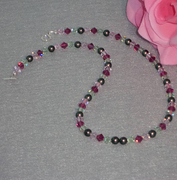 Swarovski Crystal Beaded Necklace In A Rainbow Of Colors